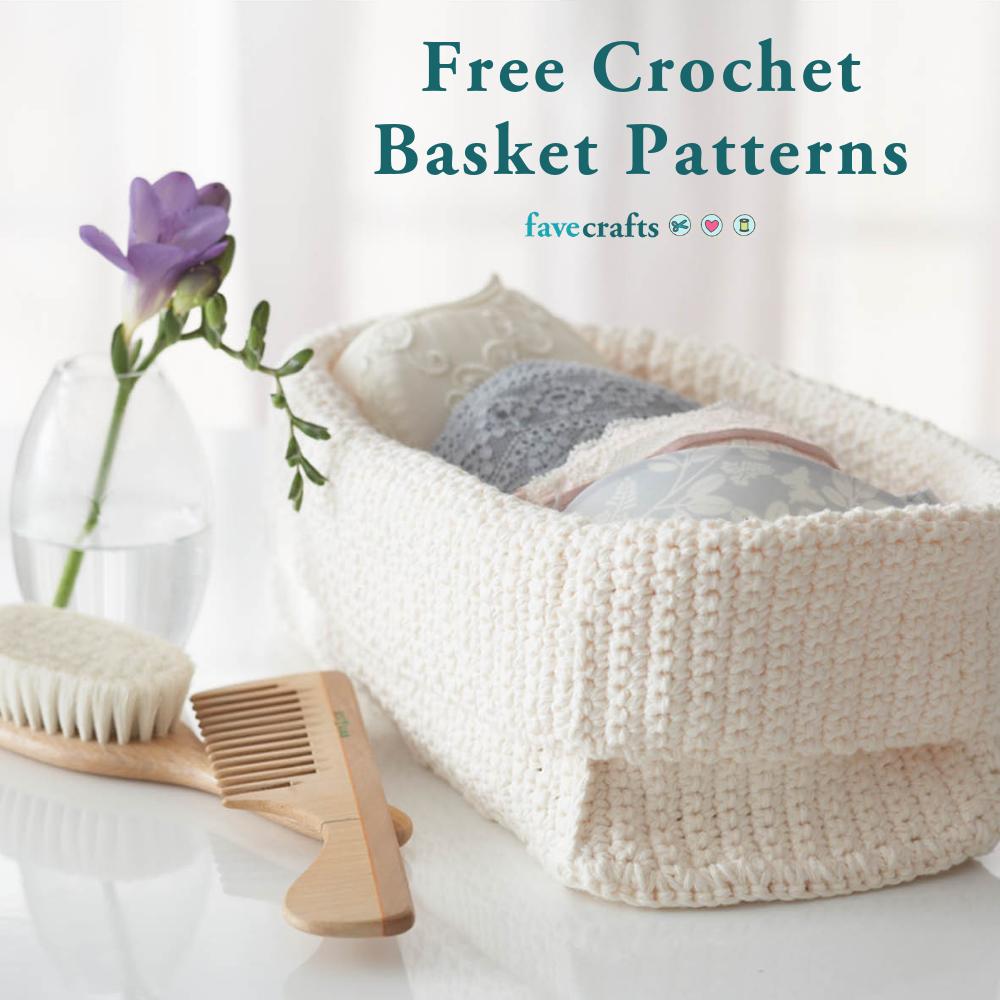 41 Free Crochet Basket Patterns Favecrafts