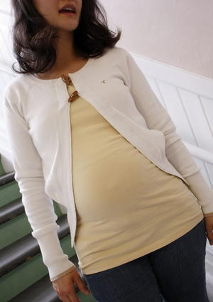 Refashioned Maternity Cardigan