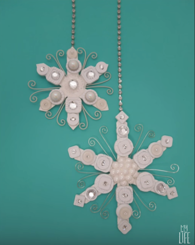 Recycled Snowflake Ornament