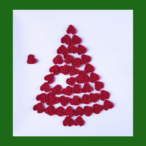 A Lovely Christmas Tree of Hearts