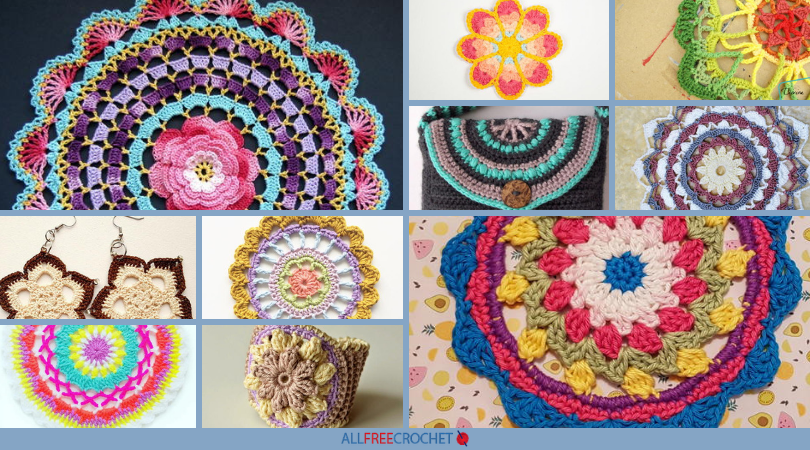 60 Stunning Crochet Mandala Patterns AllFreeCrochet Magnificent Free Crochet Mandala Pattern