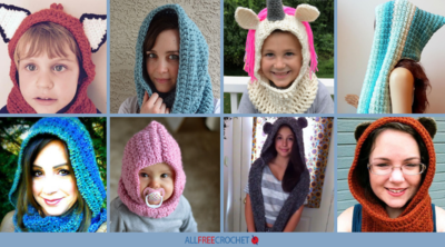 22 Crochet Hooded Scarf Patterns