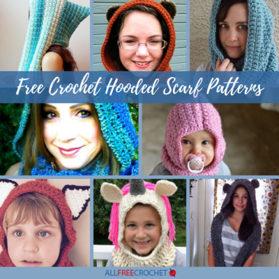 60 Free Crochet Hooded Scarf Patterns AllFreeCrochet Mesmerizing Crochet Hooded Scarf Pattern