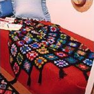 Crocheted Granny Square Afghan