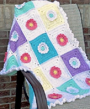 Wildflower Crochet Afghan