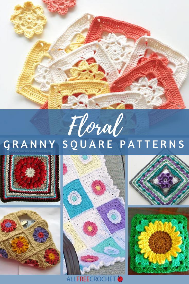 18 Floral Granny Square Patterns Allfreecrochet