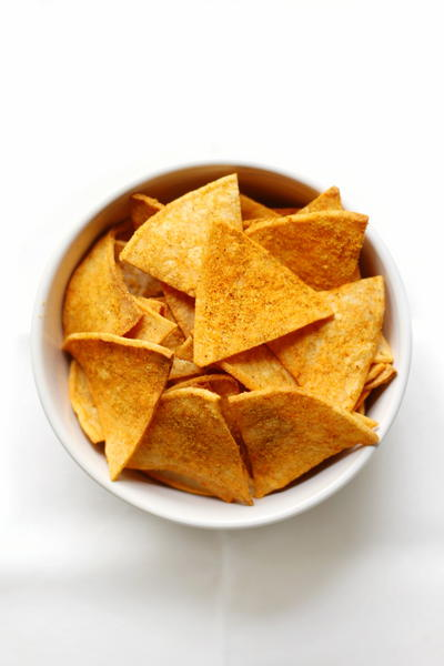 Healthy Homemade Vegan Doritos