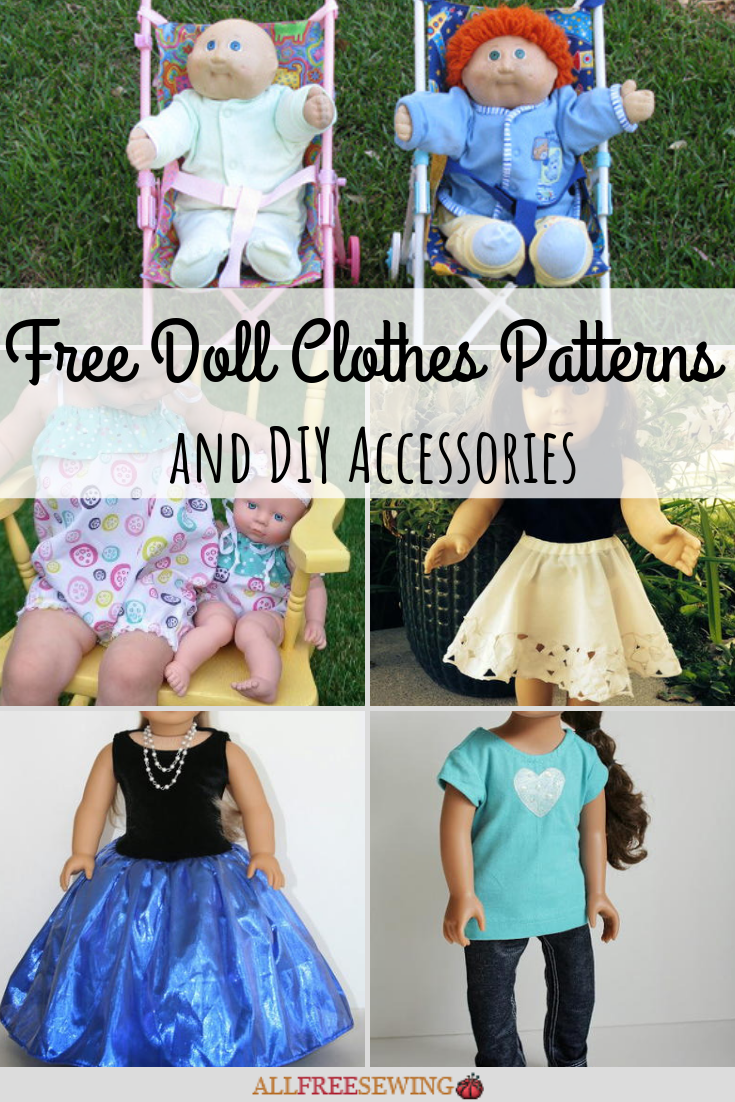 46 Free Doll Clothes Patterns And Diy Accessories Allfreesewing