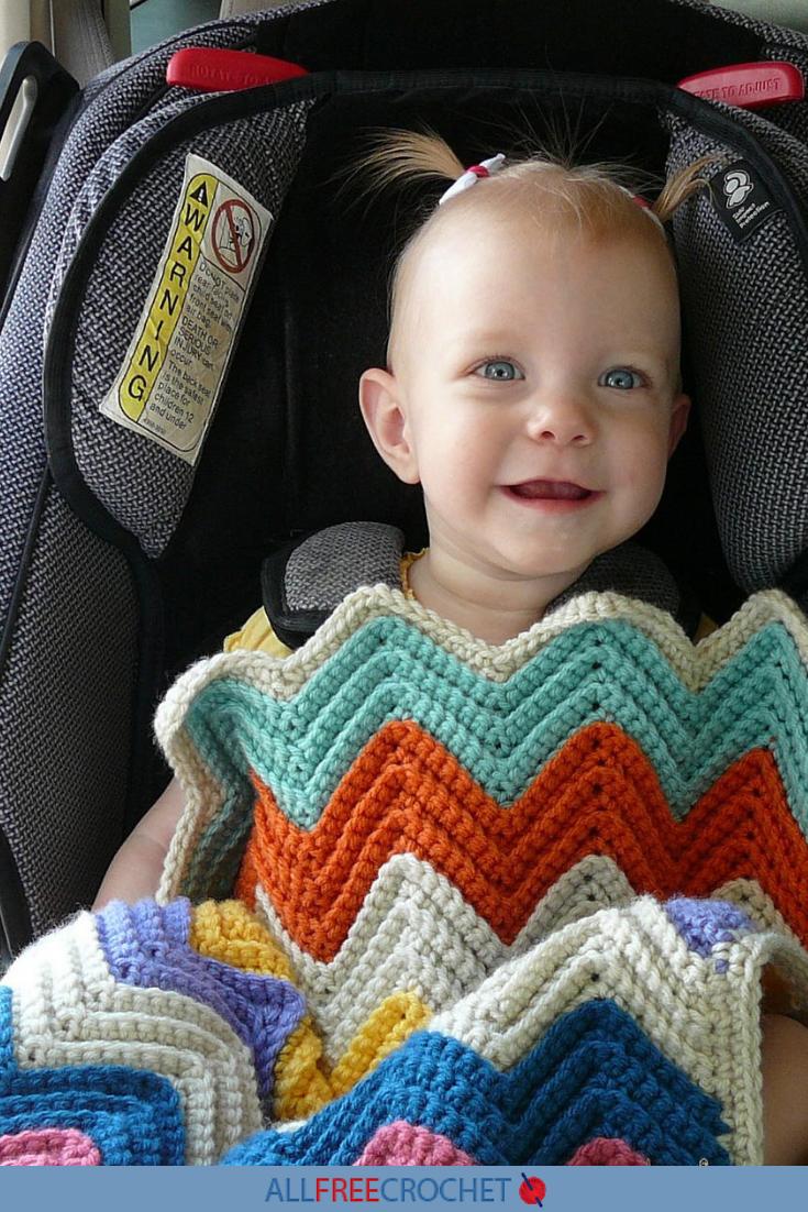 Moms Favorite Chevron Crochet Baby Blanket Allfreecrochet