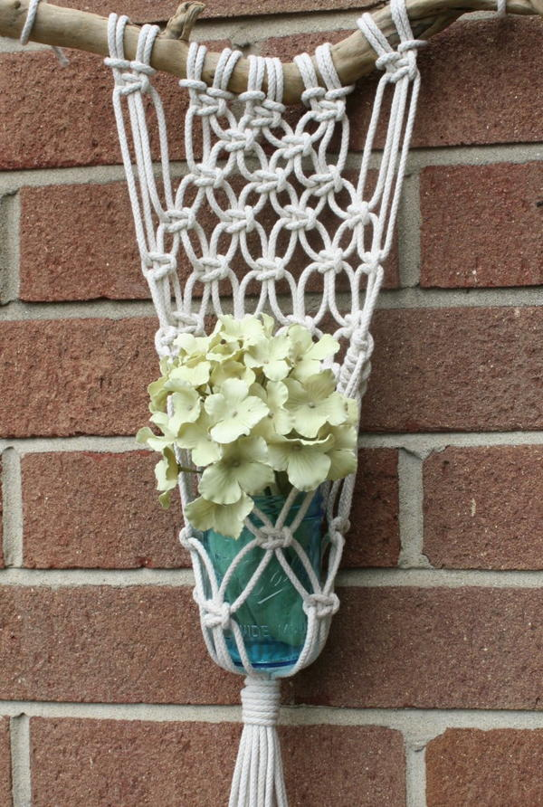Macrame and Mason Jar Planter