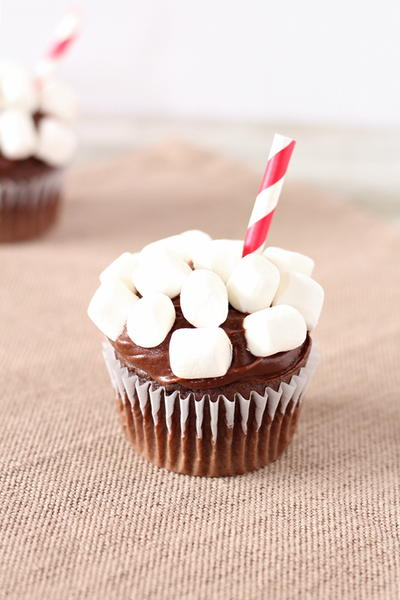 Cup of Hot Cocoa Cupcakes Recipe
