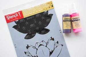 Beautiful Lotus Stencil and Ink Sprays Giveaway