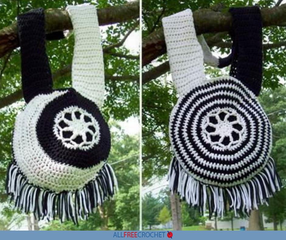 Moon And Sun Crochet Boho Bag Pattern Free Allfreecrochet