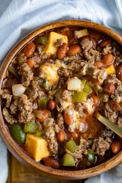 Philly Cheesesteak Chili